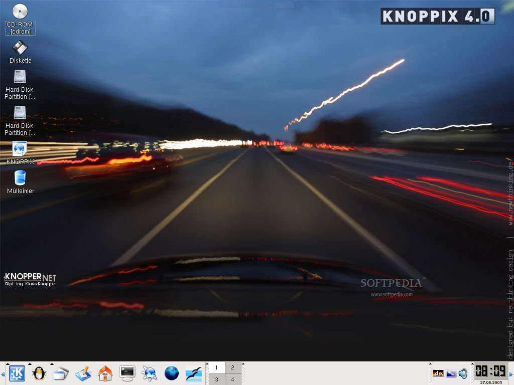 KNOPPIX 5.3.0 Screenshot 1