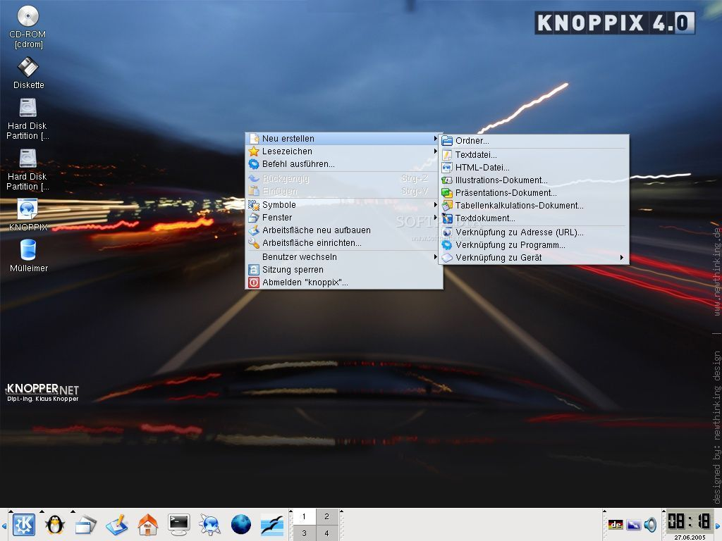 KNOPPIX 5.3.0 Screenshot 2