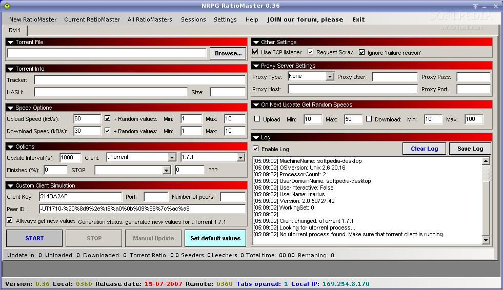 ratiomaster net 0.43